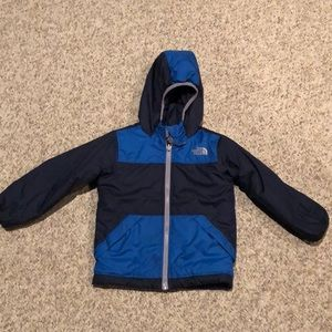 The North Face Navy Reversible hoodie Jacket sz 3T